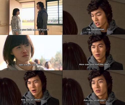 """""""How can you not like me? Are you an idiot? Are you on drugs?"""" Hahaha Funny scene from Boys Over Flowers"""