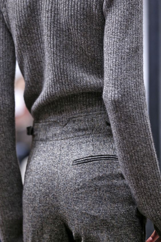 On the hunt for a grey woollen suit: