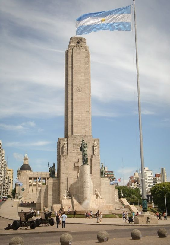 Monumento a la Bandera en La ciudad de Rosario, provincia de Santa Fe, Argentina