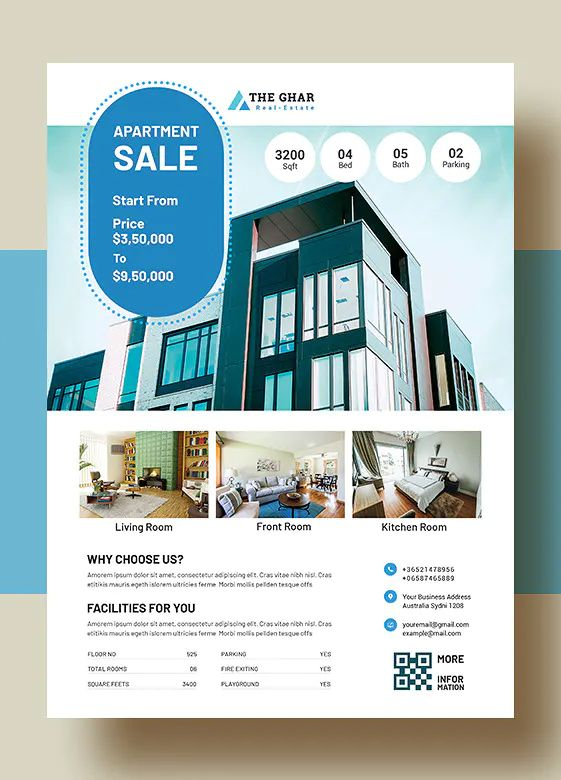 Real Estate Apartment Sales Flyer Template Flyer Design Layout Photography Marketing Templates Sale Flyer