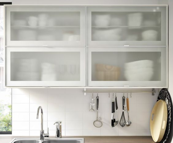 Glass Door Cabinet Ikea Kitchen ~ Puertas, Frosted glass and Glass doors on Pinterest
