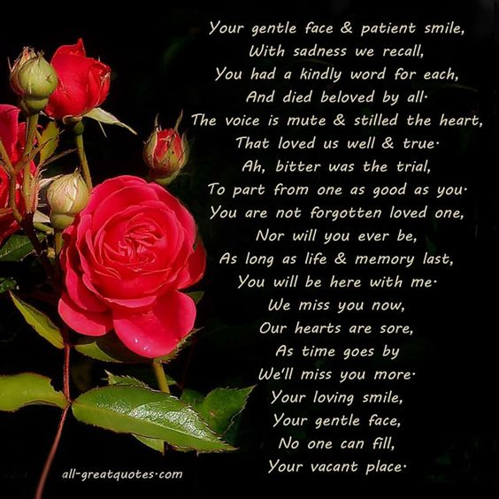 Words Of Sympathy New World: Sympathy Card Poems Your Gentle Face And Patient Smile
