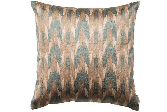 Silk Embroidered Ikat Cushion from ELSON #cushion #silk #embroidered #ikat #homedecor #homeaccessories