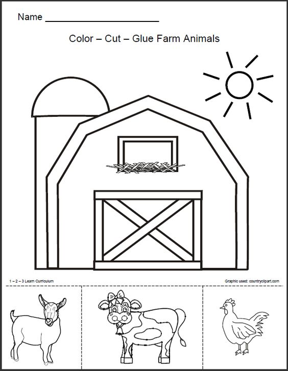 preschool coloring pages of barn - photo#18