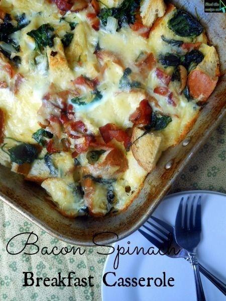 Bacon Spinach Breakfast Casserole