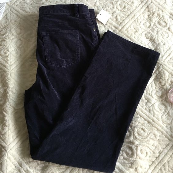 """Corduroy pants Classic fit - navy blue - 31"""" inseam - 42"""" out seam Charter Club Pants"""