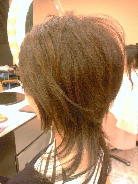 Thanks For゚ ゚゚ ゚ 今の長さをキープした中で 少し変化をだすために今回はソフトウルフレイヤースタイル 60代 ヘアスタイル ヘアカット 髪型