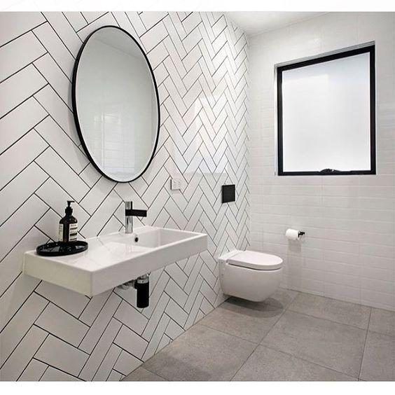Www Sydneytaps Com Au White Tile Bathroom Walls White Herringbone Tile Herringbone Tile Bathroom