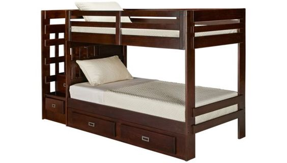 Oak Furniture West Campus Bunk Bed With Storage Stairs And