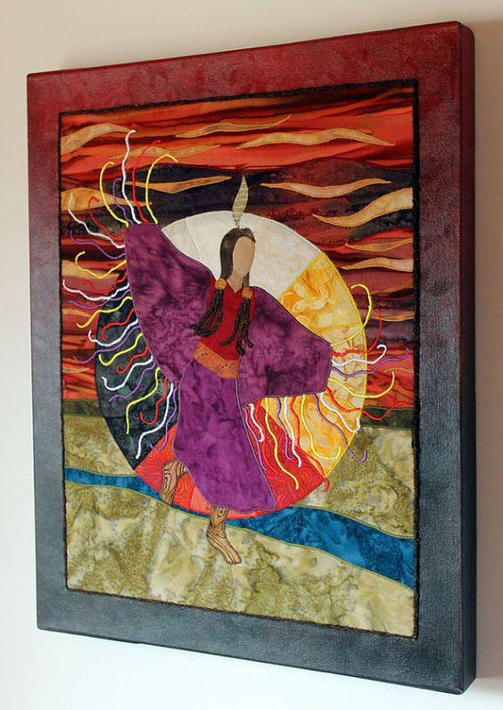 Native American Fancy Shawl Dancer Four Directions Art