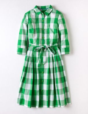 bodenclothing gingham shirt dress grassy green gingham i have the straight navy gingham shirt