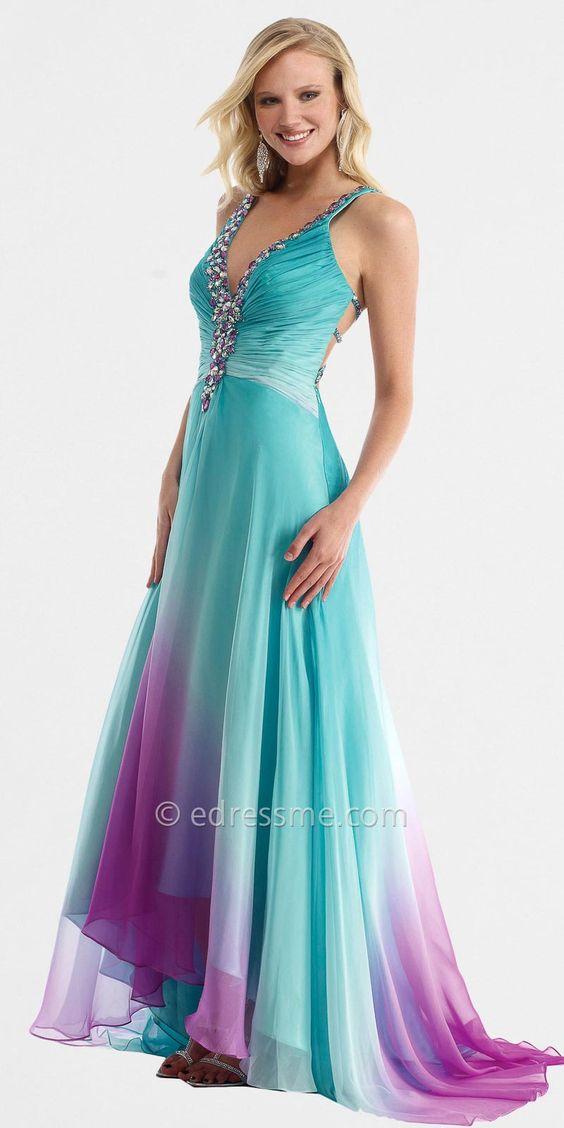 Tie Dye Dress aqua and purple for outdoor wedding fun - Wedding ...