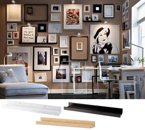 Details About Ikea Picture Ledge 22 Floating Shelf Black