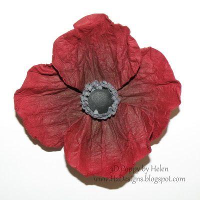 3-D Poppy Tutorial by Helen