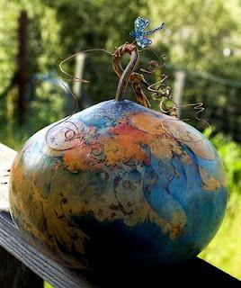 Carole Dwinell, gourd art