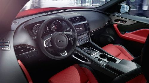 Jaguar F Pace Gas Mileage In 2020 Jaguar Suv Interior Jaguar F Type Red Interior Car