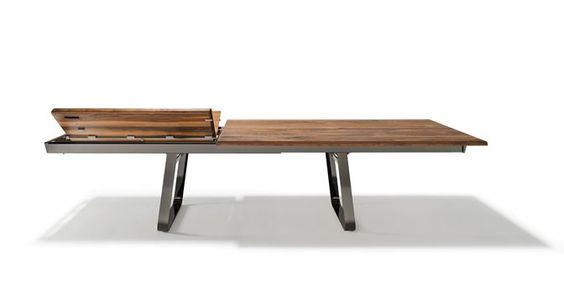 Der nox Auszugstisch  ermöglicht ein sanftes, materialschonendes Öffnen und Schließen des Tischauszugs dank 2soft Technik .