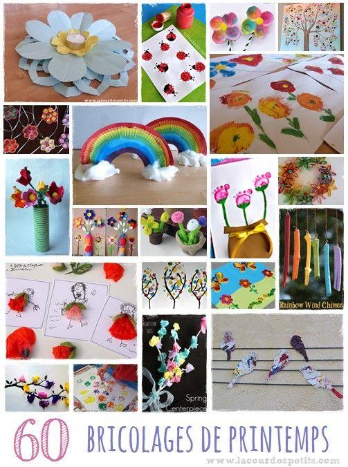 Loisirs cr atifs de printemps cr ations pour enfants and activit s cr atives on pinterest Bricolage printemps objets naturels idees