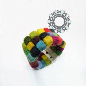 Felt bracelet / Filcowa bransoletka by Alina Tyro-Niezgoda / Tender December  More: http://tenderdecember.eu/felt-variations-filcowe-wariacje/ To buy: http://tenderdecember.eu/shop/produkt/felt-bracelet-filcowa-bransoletka-4/