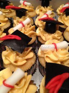 Love, Laugh, and Eat Cake - Graduation Cupcakes