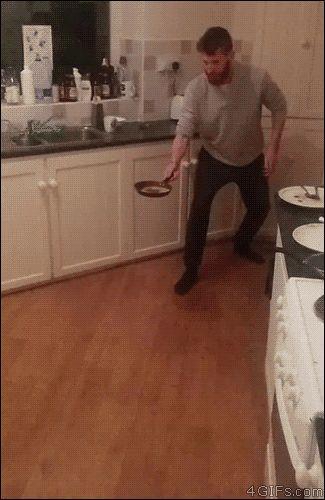 How ninjas make pancakes. [video]