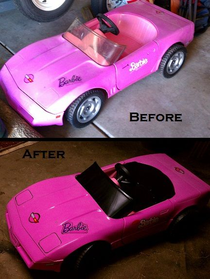 Wheels cars and corvettes on pinterest for Motorized barbie convertible car