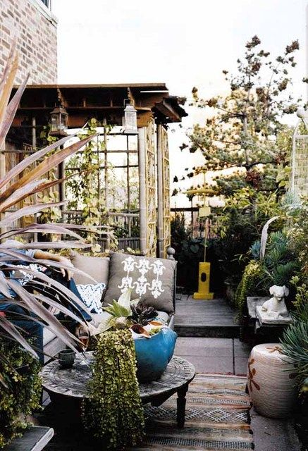 Small patio space.