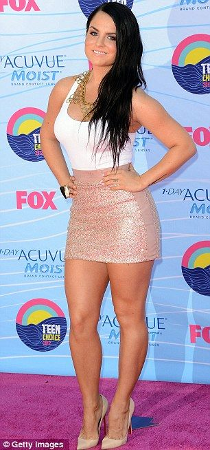 Quick change: Bella and JoJo at the Teen Choice Awards earlier, both girls changed for the next event