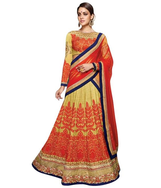 Naksh - EXCLUSIVE DESIGNER WOMENS INDIAN STUNNING TRADITIONAL ETHNIC WEDDING BEIGE AND RED LEHENGA CHOLI