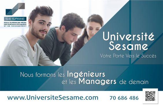 Université Sesame: Votre Porte vers le Succès «Année Universitaire 2016/2017 – faites votre Pré-inscription En-ligne«
