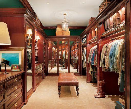 Ralph Lauren's Personal Dressing Closet
