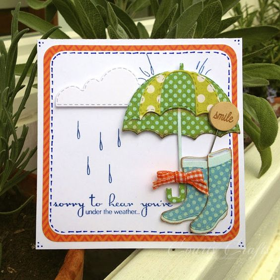 I'm Here For You Rain or Shine stamps with Coordinating Dies