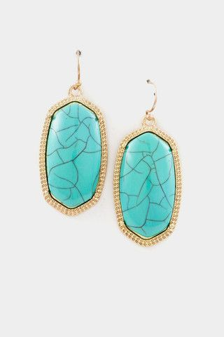 delaney earrings in turquoise