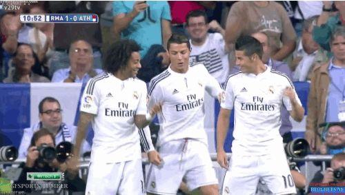 RAS TAS TAS Cristiano, Marcelo and James | Real Madrid 5 - 0 Athletic de Bilbao | Liga BBVA October 5, 2014