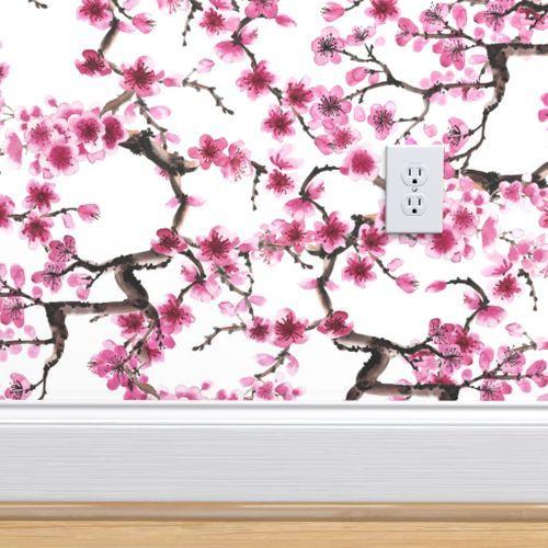 Sakura Branches Wallpaper Pretty Wallpapers Wall Painting