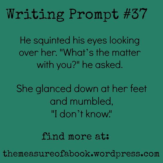 Can anyone give me ideas for this writing prompt?