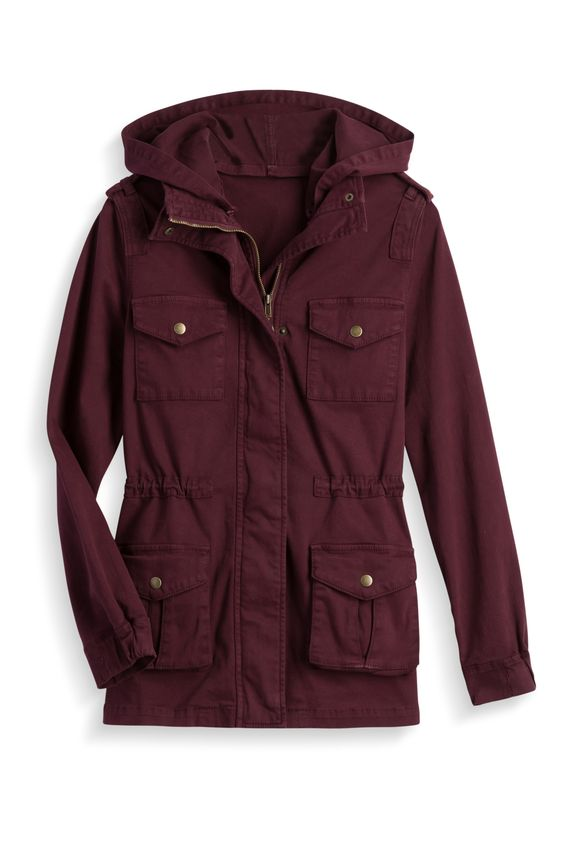 Love the color!!  Cargo Jacket by Tinsel