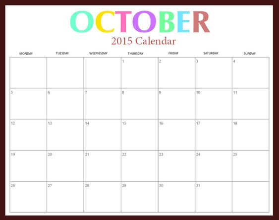 free download 2015 calendar 2015 october printable pictures  images  templates  holidays  events