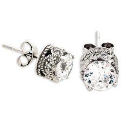 Vintage diamond studs-beautiful!