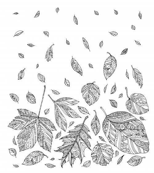Autumn Coloring Page Coloring For Kids And Leaves