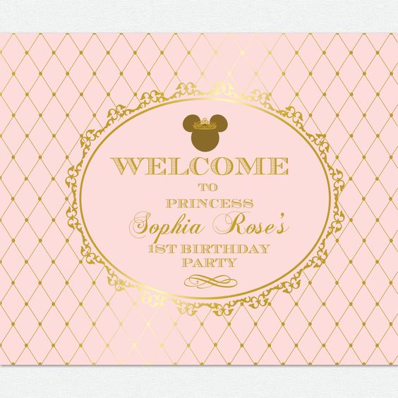 Pink And Gold Princess 1st Birthday Party Fresh Pink And: Pink And Gold Princess Minnie Mouse Baby Shower 1st
