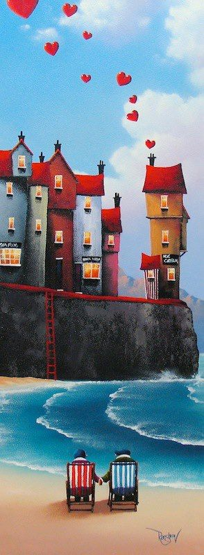 This is suck a lovely picture. Imagine yourself #vacationing with your #love!  Artist David Renshaw