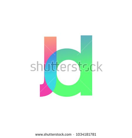 initial letter jd lowercase logo green pink and blue modern and simple logo design pinterest