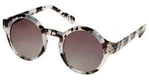 TOPSHOP - printed round sunglasses.