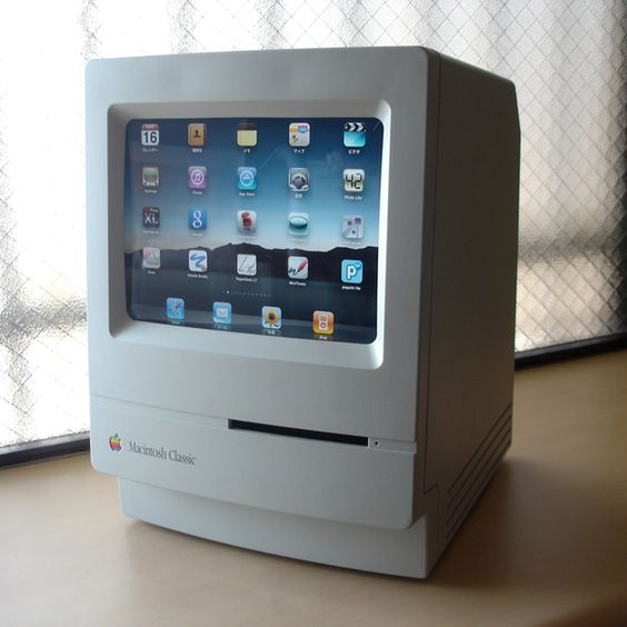 macintosh classic iPad stand: geek chic.