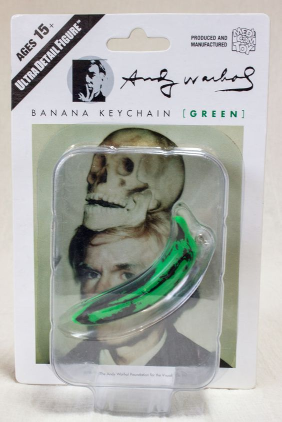 Andy Warhol Banana Keychain Green Ver. Ultra Detail Figure Medicom Toy JAPAN