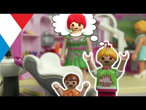 Playmobil En Francais La Famille Hauser Chez Le Coiffeur Youtube