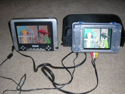 Add a third LCD to your portable screen DVD player