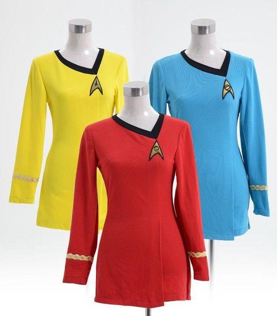 2016 neue Star Trek Kostüm Weibliche Kleid Duty Uniform Mehrere Farben Heißer Verkauf