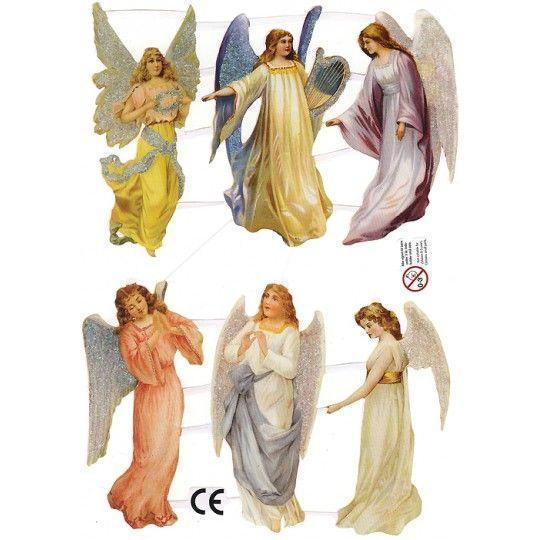 Medium Glittered Angels Scraps ~ Denmark